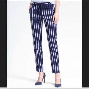 Banana Republic Ryan Blue striped slim pants 6